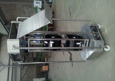 Ventilateur de décongélation structure inox